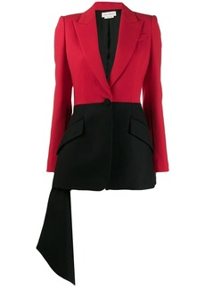 Alexander McQueen two-tone draped blazer