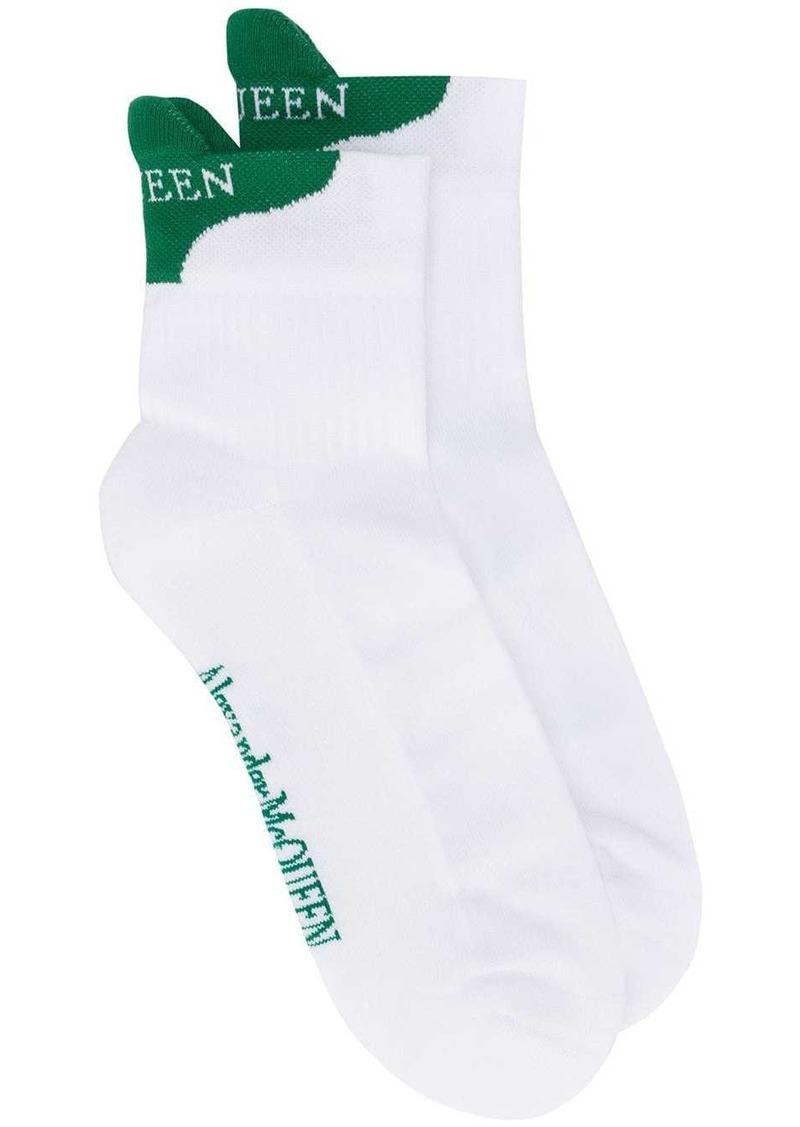Alexander McQueen two-tone logo socks