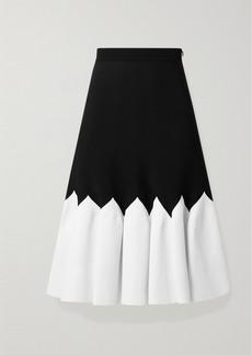 Alexander McQueen Two-tone Stretch-knit Midi Skirt