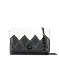 Alexander McQueen two-toned quilted crossbody bag