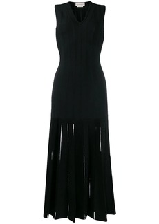 Alexander McQueen v-neck ribbed dress