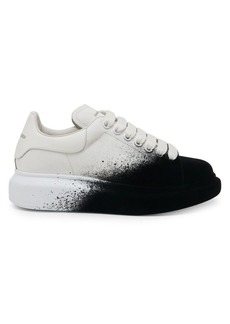 Alexander McQueen Velvet Spray Leather Platform Sneakers