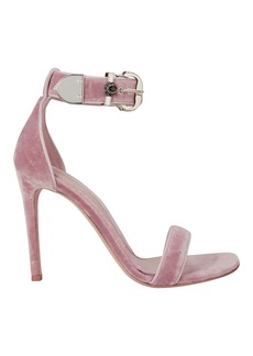 Alexander McQueen Velvet Stiletto Sandals