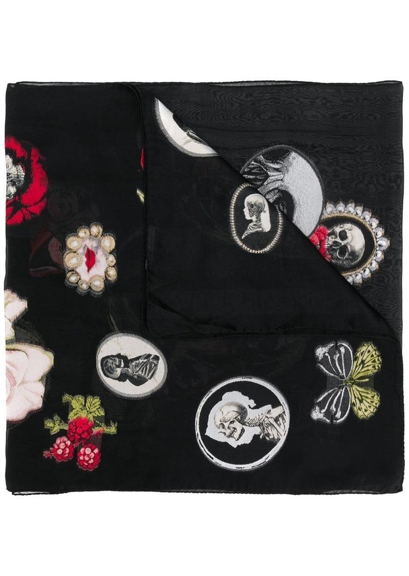 Alexander McQueen Victorian Curiosities scarf