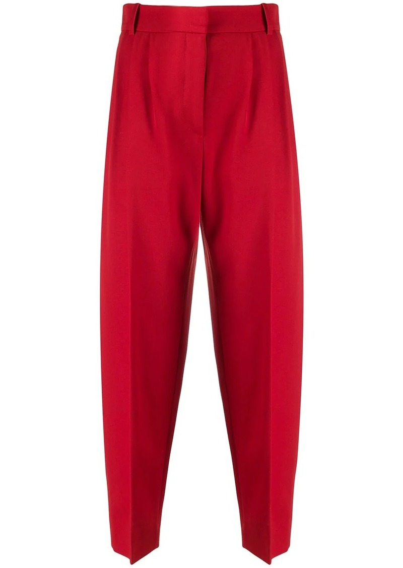 Alexander McQueen virgin wool peg trousers