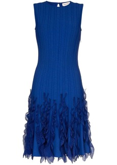 Alexander McQueen wave hem dress