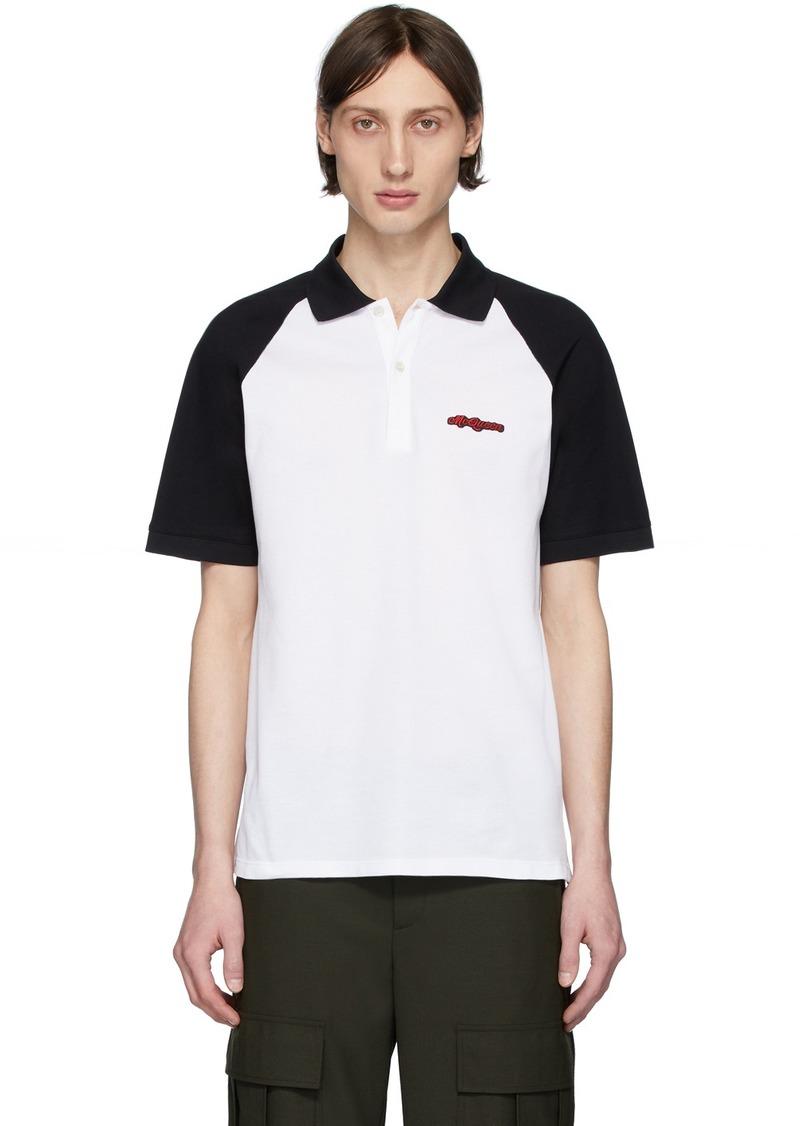 Alexander McQueen White & Black Logo Polo