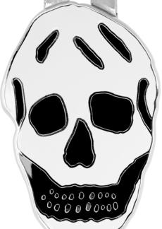 Alexander McQueen White & Black Skull Money Clip