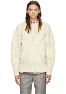 Alexander McQueen White Chunky Knit Sweater