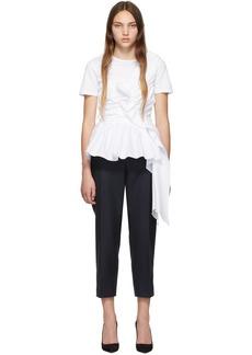 Alexander McQueen White Deconstructed Peplum T-Shirt
