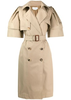 Alexander McQueen wild short sleeve trench coat