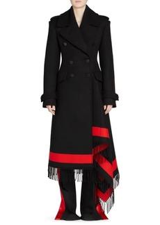 Alexander McQueen Wool & Cashmere Stripe Trench Coat
