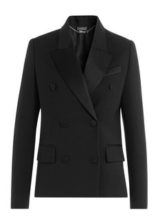 Alexander McQueen Wool Blazer with Silk