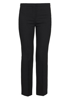Alexander McQueen Wool Blend Ankle Cropped Trousers