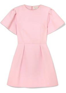 Alexander McQueen Wool-blend Crepe Mini Dress