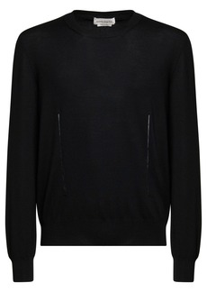 Alexander McQueen Wool Knit Sweater W/ Slash Details
