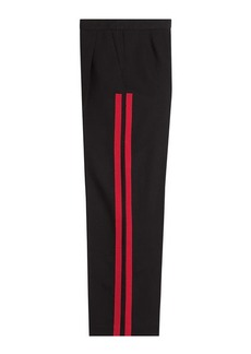 Alexander McQueen Wool-Silk Wide Leg Pants