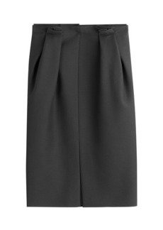 Alexander McQueen Wool Skirt with Silk