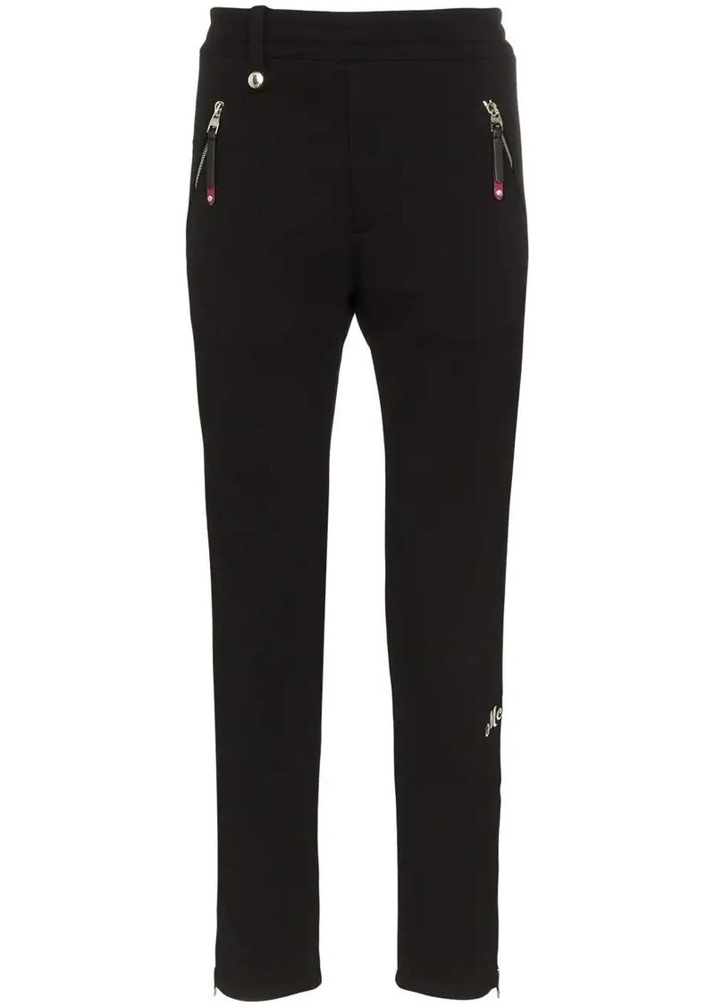 Alexander McQueen zip cuff cotton track pants