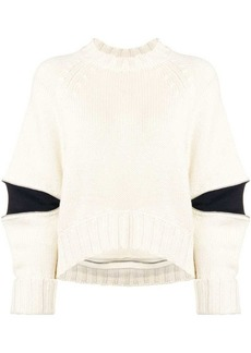 Alexander McQueen zipped elbows boxy jumper