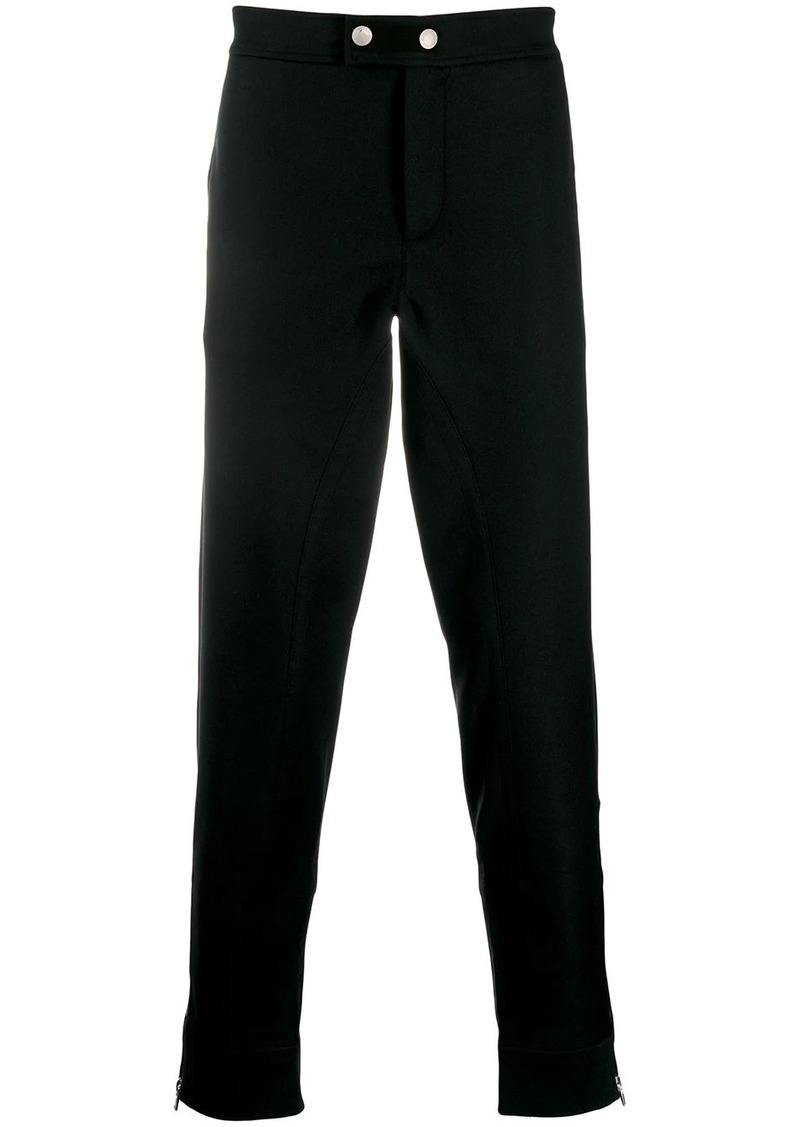 Alexander McQueen zipped hems skinny trousers