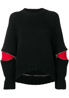 Alexander McQueen zipped sleeve jumper