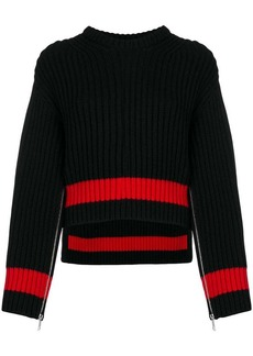 Alexander McQueen zipped sleeves chunky knit sweater