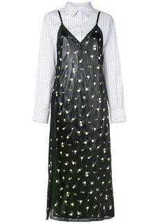 Alexander Wang contrast panel shirt dress