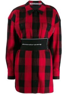 Alexander Wang check print dress