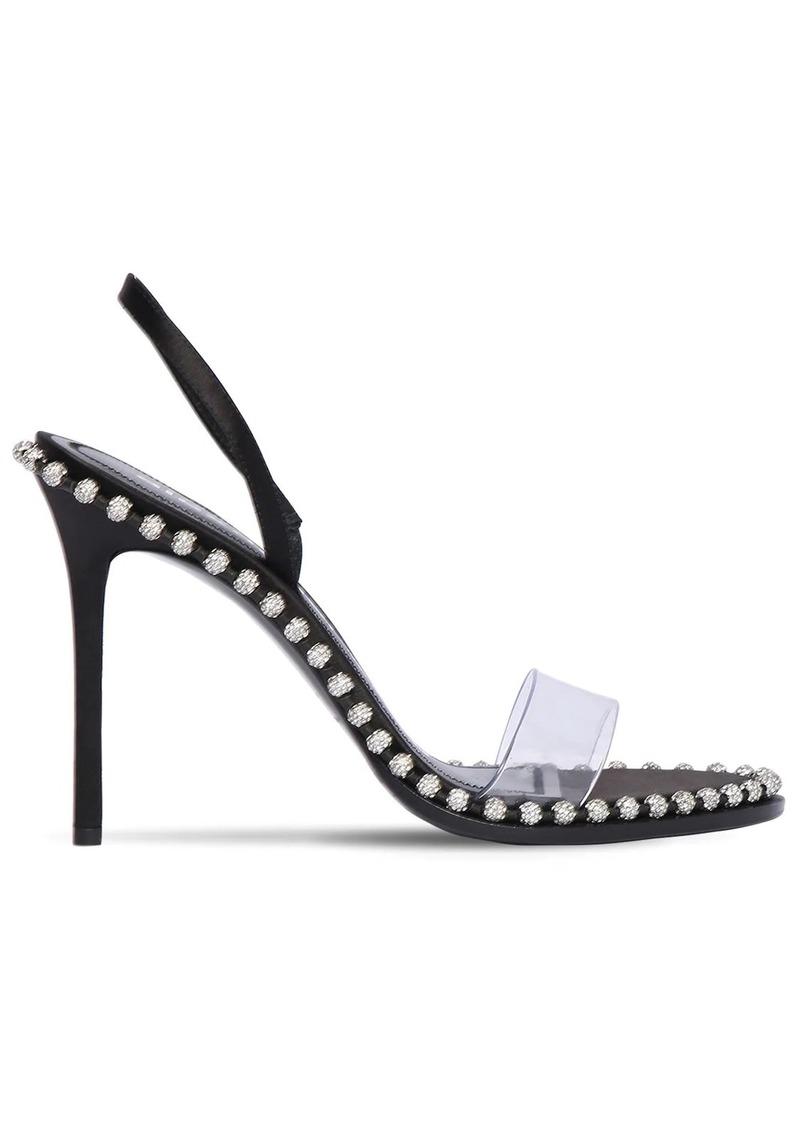 Alexander Wang 105mm Nova Plexi & Satin Sandals