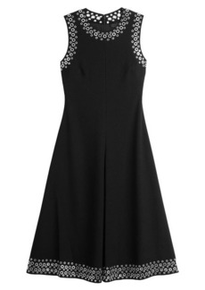 Alexander Wang A-Line Midi Dress with Eyelets