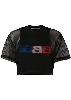 Alexander Wang aaa mesh cropped T-shirt