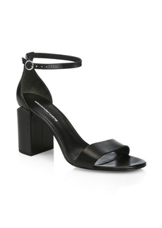 Alexander Wang Abby Leather Ankle Strap Sandals