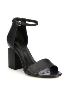 Alexander Wang Abby Tilt-Heel Leather Sandals