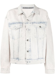 Alexander Wang acid wash denim jacket