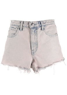 Alexander Wang acid wash denim shorts