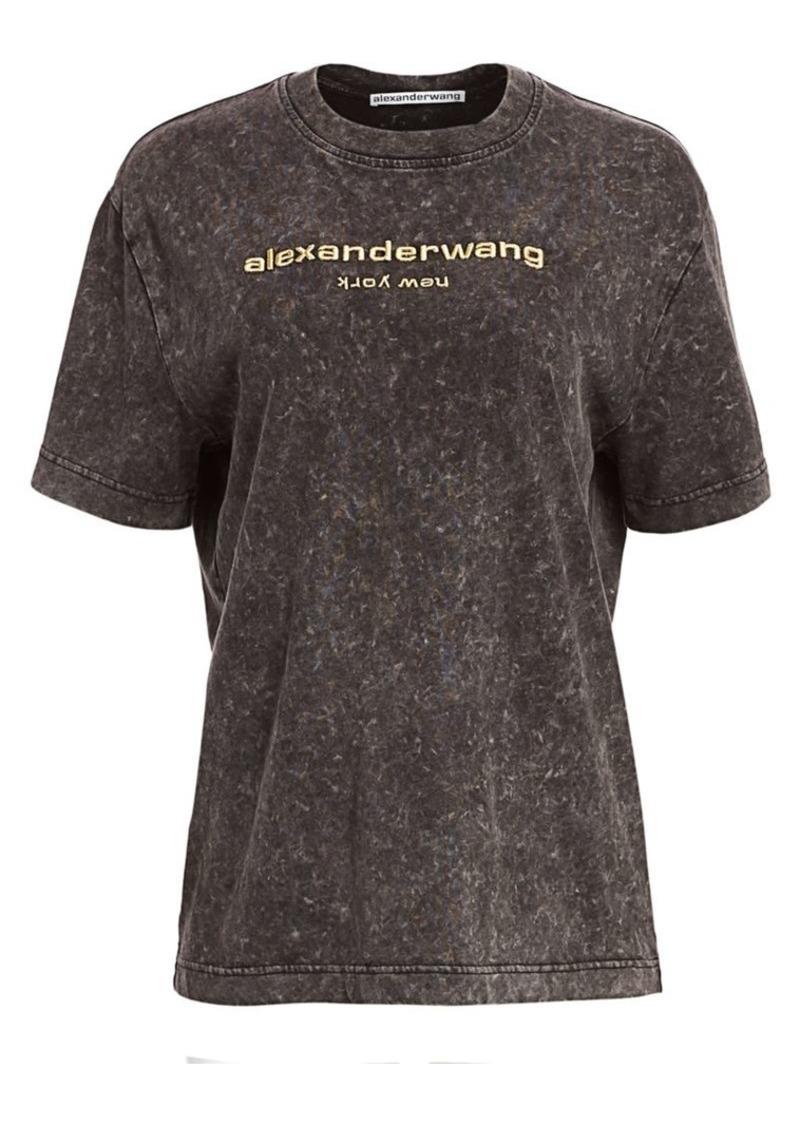 Alexander Wang Acid-Wash Short-Sleeve Cotton Tee