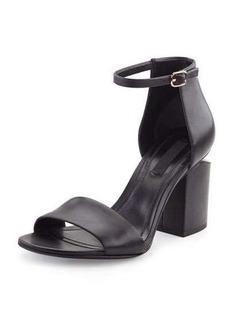 Alexander Wang Abby Leather Tilt-Heel City Sandal