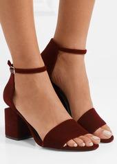 3c27ae409ede Alexander Wang Alexander Wang Abby leather-trimmed velvet sandals ...