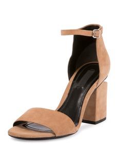 Abby Suede Tilt-Heel City Sandal