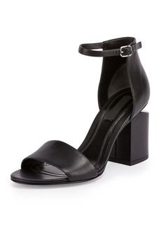 Alexander Wang Abby Tilt-Heel Leather Sandal