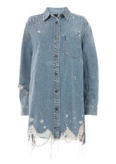 Alexander Wang Oversized Denim Shirt Jacket