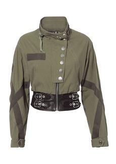 Alexander Wang Leather Waist Military Jacket