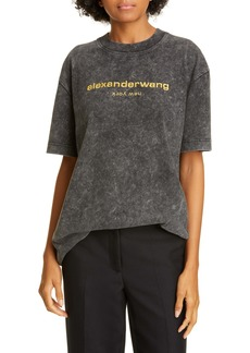 Alexander Wang Acid Wash Short Sleeve Logo Tee