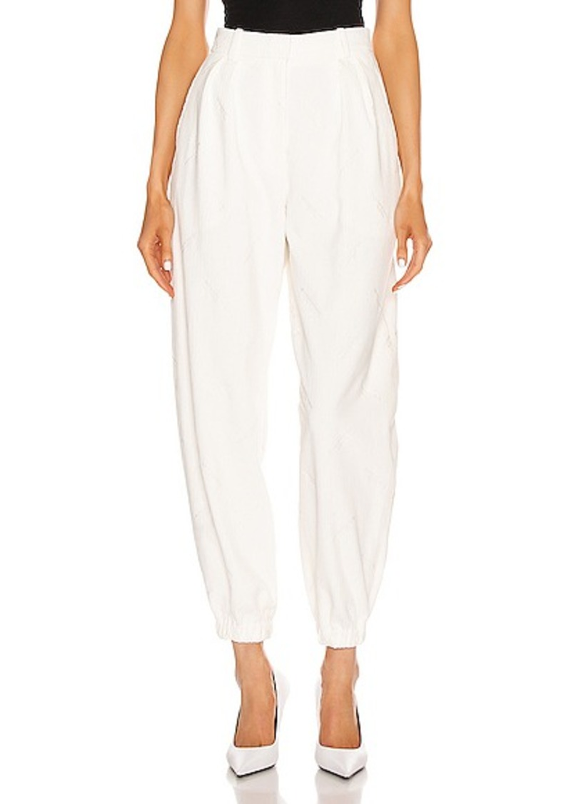Alexander Wang All Over Embroidery Corduroy Sweatpant
