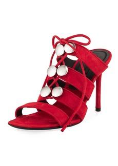 Allegra Suede Strappy Mule Sandal