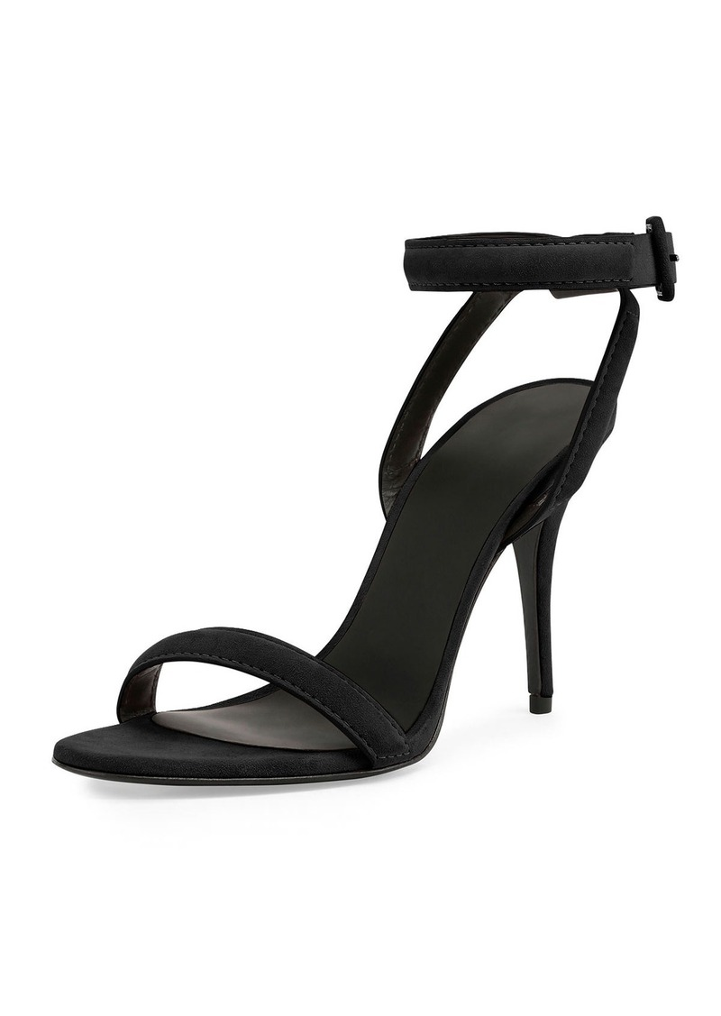 Alexander Wang Antonia Suede Ankle-Wrap Sandal