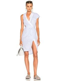 Alexander Wang Asymmetric Deconstructed Shirt Wrap Dress