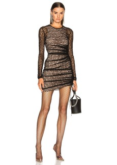 Alexander Wang Asymmetric Lace Mini Dress