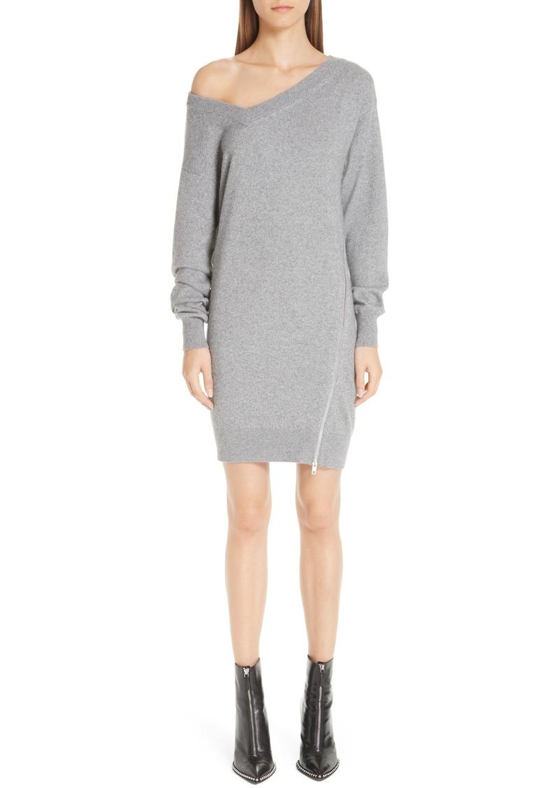 05f436826e Alexander Wang Asymmetrical Zip Detail Wool   Cashmere Blend Sweater Dress